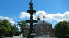 Cape Girardeau Common Pleas Court and Civil War Soldier Memorial Stock Footage