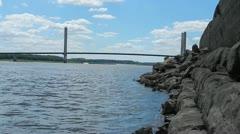 Bill Emmerson Memorial Bridge Stock Footage