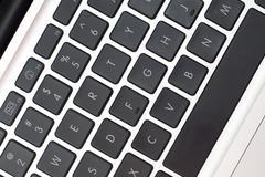 Stock Photo of Laptop Keyboard