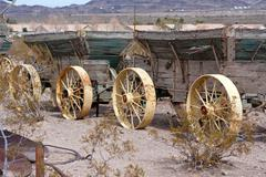 Old wild west wagons Stock Photos