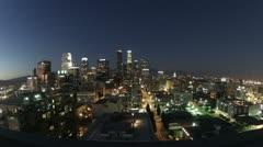 LA wide downtown Stock Footage