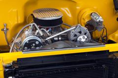 Moottori hot rod muskeliauto Kuvituskuvat