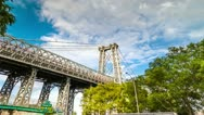 Stock Video Footage of Williamsburg Bridge in NYC (editorial)