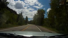 Driving up Independence Pass near Aspen and up to the Continental Divide - 9 Stock Footage