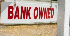 bank owned real estate sign - stock photo