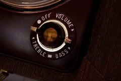 Vintage on off button from old tube reel to reel Stock Photos