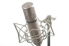 Studio microphone on stand Stock Photos