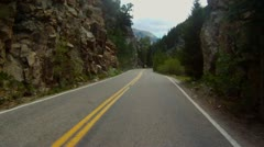 Driving up Independence Pass near Aspen and up to the Continental Divide - 4 Stock Footage