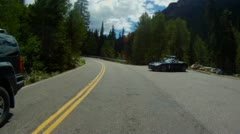 Driving up Independence Pass near Aspen and up to the Continental Divide - 3 Stock Footage