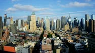 New York Manhattan Time Lapse Elevated View Stock Footage