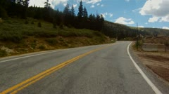 Driving up Independence Pass near Aspen and up to the Continental Divide - 1 Stock Footage