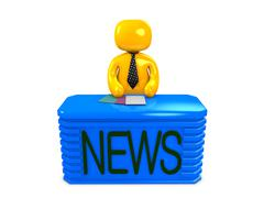newscaster - stock illustration