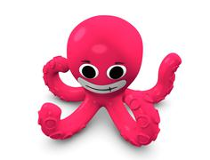 Cartoon concept illustration of octopus Stock Illustration