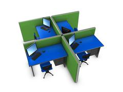 Office partition Stock Illustration