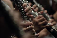 Clarinets in band Stock Photos