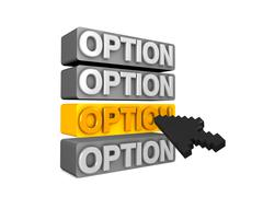 option - stock illustration