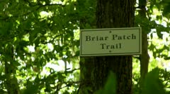 Briar patch trail sign Thornton Burgess Sandwich Cape Cod Stock Footage