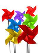Plastic fan Stock Illustration