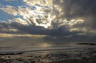 Dramatic Sunset on California Coast Stock Photos