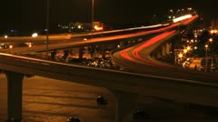 Traffic Time Lapse in Milwaukee Stock Footage