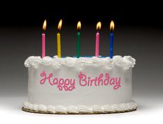 birthday cake profile - stock illustration