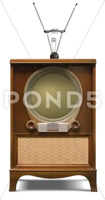 Stock Illustration of 1952 television set