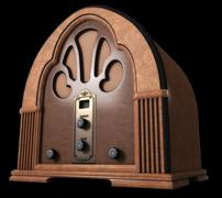 cathedral radio - stock illustration