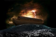 noah's ark - stock illustration