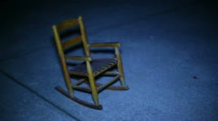 ghost rocking chair - stock footage