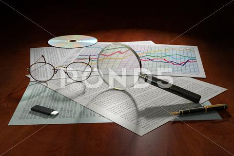Stock Illustration of data analysis