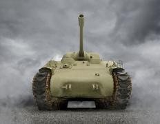 general sherman tank - stock illustration