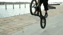 Bike trick 04 - stock footage