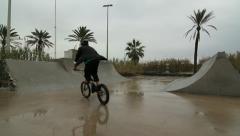 Bike trick 02 - stock footage