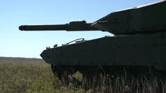 military, Leopard 2A4 tank firing 50 cal coax machine gun - stock footage