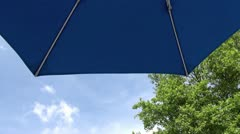 Under an umbrella Stock Footage