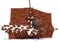 Wrecking ball Stock Illustration