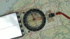 Crazy field compass needle spinning moving erratically 1 Stock Footage