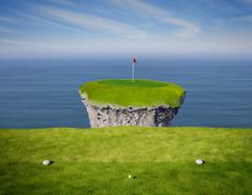 hole in one - stock illustration