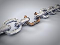 weakest link - stock illustration