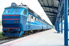 Platform of station Stock Photos