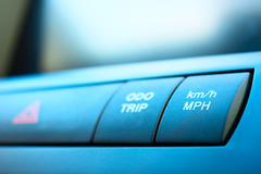 Buttons in a car Stock Photos