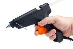 Electric hot glue gun Stock Photos