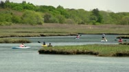 Scorton Creek kayak adventure Sandwich Cape Cod; 8 Stock Footage
