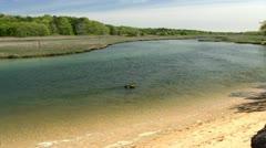 Scorton Creek saltwater marsh Sandwich Cape Cod Stock Footage