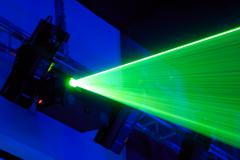 Laser installation Stock Photos