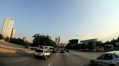 Point of view driving into city of Chicago, USA - stock footage