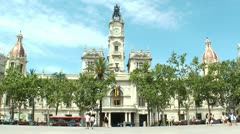 Stock Video Footage of Valencia, Spain City Hall