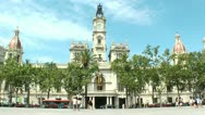 Valencia, Spain City Hall Stock Footage