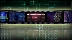 Reel clip scifi loop-pystyy Arkistovideo