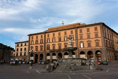 piazza della rocca - viterbo, italy - stock photo